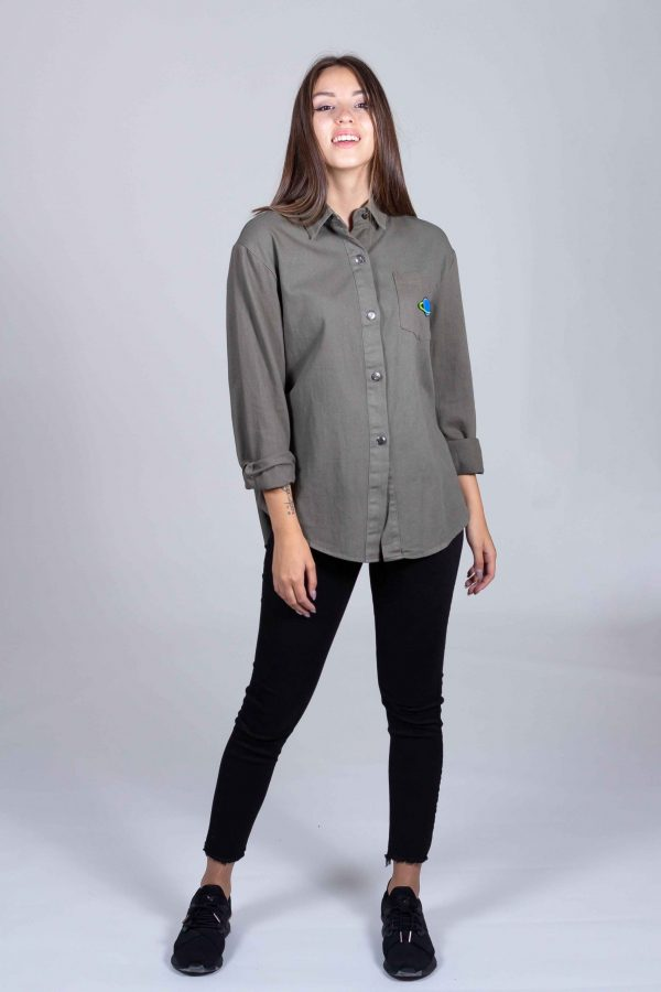 Camicia in Cotone con Patch
