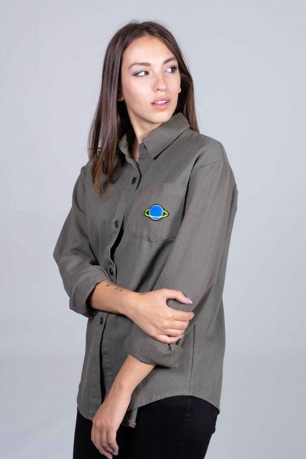 Camicia in Cotone con Patch