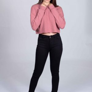 Jeans skinny nero donna